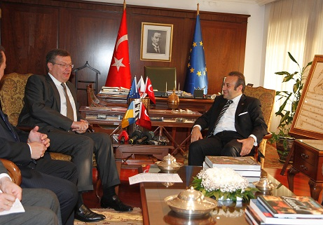 Egemen Bağış Meets with Minister of Foreign Affairs of Ukraine Konstantin Grischenko